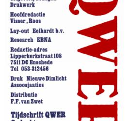 Tijdschrift QWER – Heruitgave